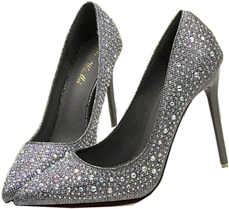 GUJMin Women's Sexy high Heel Wedding shoes high Heels Fashion high Heels Women's shoes