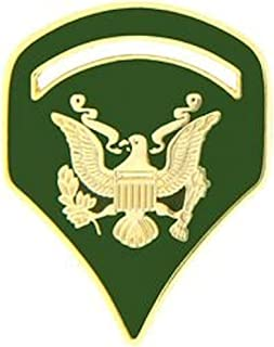 U.S. Army Specialist E-5 Hat Pin - FULL COLOR