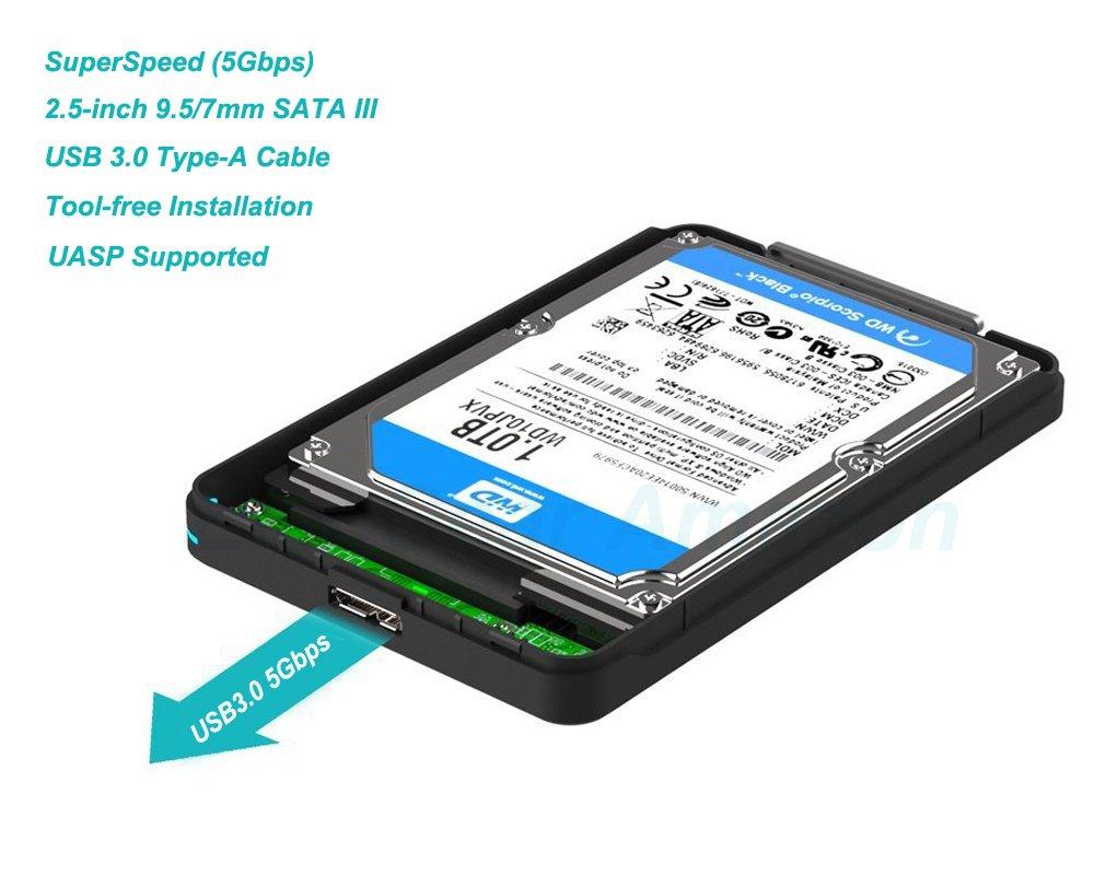 USB 3.0 Carcasa para Disco Duro Externo de 2.5: Amazon.es ...