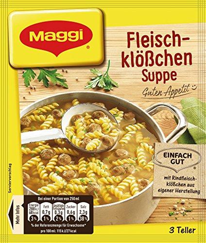 Maggi Fleischklößchen Suppe, 1er Pack (1 x 60 g)