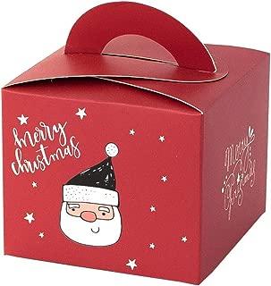 TwoCC-Decoraciones NavideñAs, Bolsa De Regalo De Dulces NavideñOs, 24 Bolsas De Papel Kraft De Alta Calidad, Motivos NavideñOs, Adecuados Para Todo Tipo De Dulces, Regalos De Navidad, 9.5X9.5X8Cm