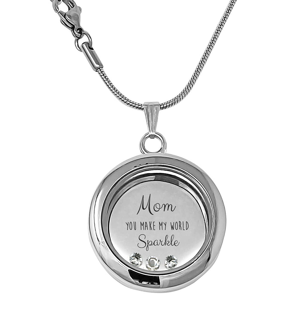 Truly Charming Mom Memory Charm Locket Necklace (18