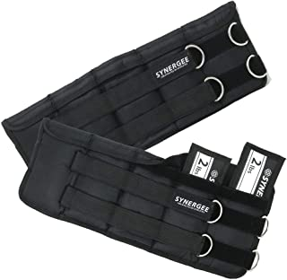 Synergee Comfort Fit Adjustable Ankle/Wrist Weights (Set of 2). One Size Fits All