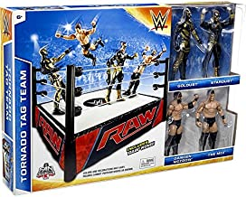 WWE Wrestling Superstar Rings Tornado Tag Team Exclusive Action Figure Playset [with Golddust, Stardust, Damien Mizdow & The Miz] (Mattel Toys)