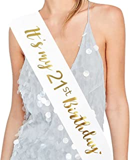"ADBetty""It's My 21st Birthday"" Sash - 21st Birthday Sash Birthday Girl Sash 21 Birthday Party Favours"