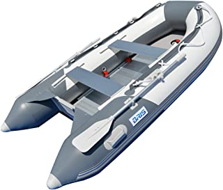 3.0M Inflatable Boat Inflatable Dinghy Yacht Tender Raft with Aluminum Floor