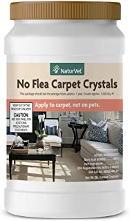NaturVet – No Flea Carpet Crystals – 2 lb – Dry Crystal Powder Repels & Kills Fleas – Apply to Carpet, Upholstered Furniture & Other Household Surfaces – Not for Direct Use on Pets