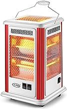 Calentador de Cinco Lados, Ventilador Rectangular Blanco, Horno eléctrico de Cuatro Lados Calefacción eléctrica Estufa a la Parrilla con Mango, Tubo de Cuarzo, Barbacoa Barbacoa