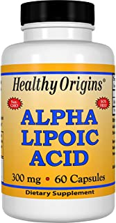 Healthy Origins Alpha Lipoic Acid 300 mg, 60 Capsules