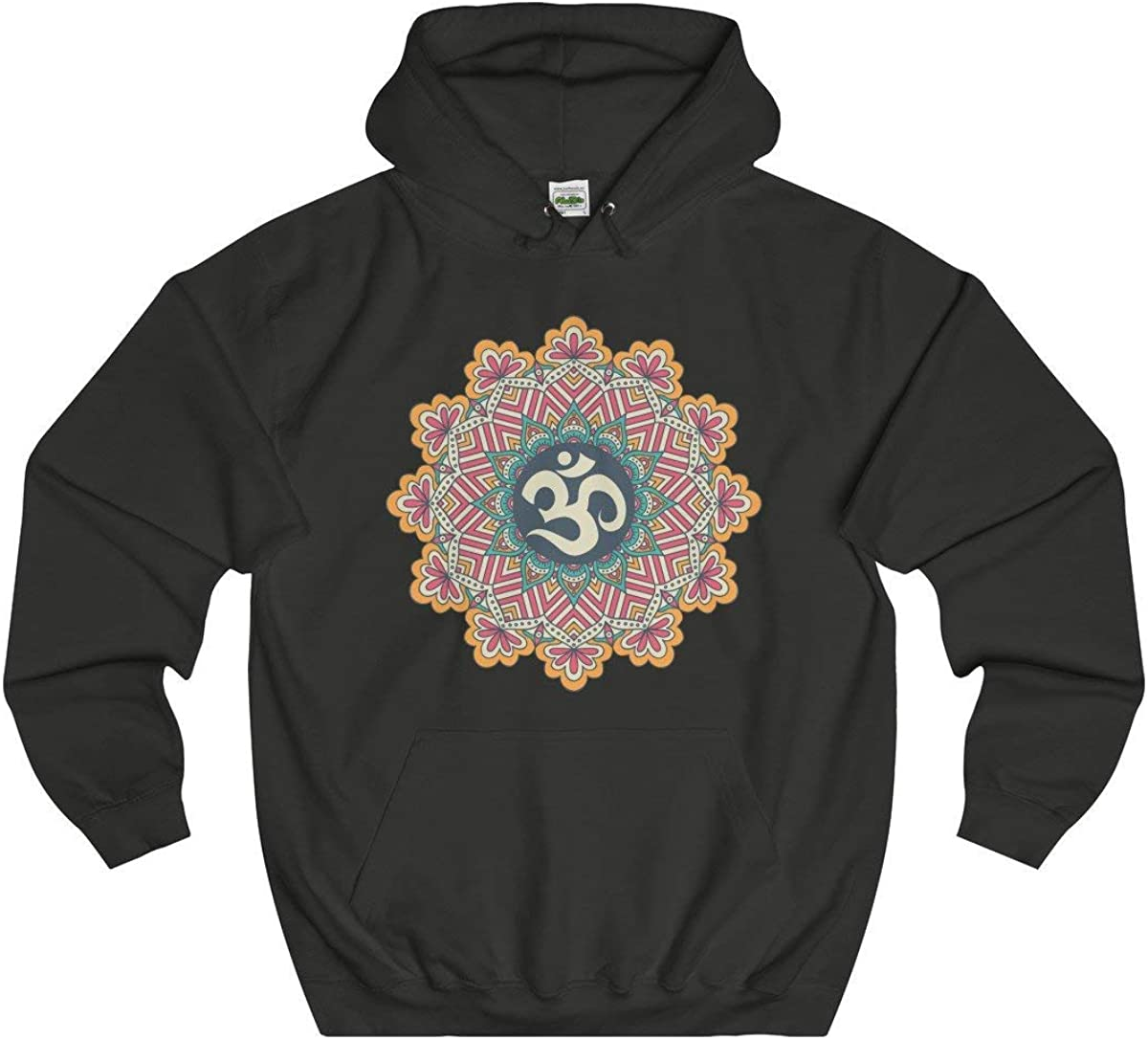 Max 47% OFF Davatka Sri Om Mandala Hoodie Yoga Sign Finally popular brand Ohm Meditation Buddhist