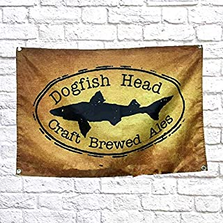 Dogfish Head Craft Brewes Ales Old Ad Beer Wine Cocktail Flag Banner 96x144 cm (38X57 inches) Vintage Poster Canvas Wall Sticker Tapestry Print Art Wall Decoration