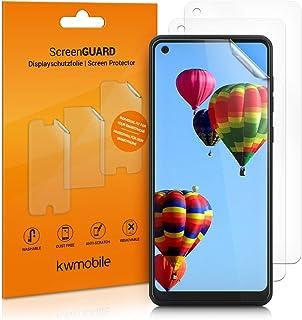 kwmobile 3x pellicola salvaschermo compatibile con Samsung Galaxy A21s - Film protettivo proteggi telefono - protezione an...