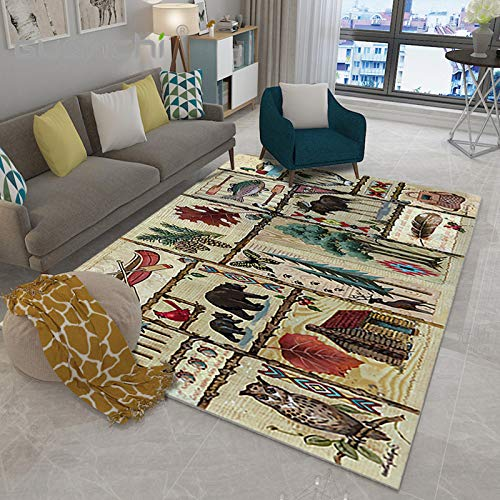 VitaLity Teppich,In- und Outdoor Teppiche für Schlafzimmer Balkon und Flur,Geometrische Modern Bodenmatte des Abstrakten Teppichrechtecks,Anti Rutsch Teppichunterlage 200X300CM