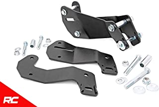 Rough Country Front Control Arm Drop/Relocation Kit compatible w/ 2007-2018 Jeep Wrangler JK w/ 3.5-4