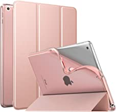 """MoKo Case Fit New iPad 8th Generation 10.2"""" 2020 / iPad 7th Gen 2019, iPad 10.2 Case with Stand, Soft TPU Translucent Frosted Back Cover Slim Shell for iPad 10.2 inch, Auto Wake/Sleep,Rose Gold"""