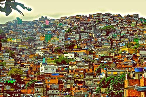 zhangshifa Puzzles 1000 Pieces,Brasil Rio De Janeiro Ciudad Casa Arquitectura Rompecabezas De Paisajes Naturales,Juego De Jigsaws Puzzle para Niños Adultos-75 * 50Cm(Puzzle De Pintura)