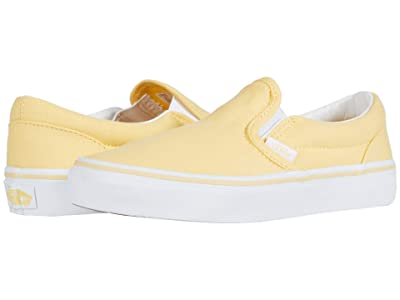 Vans Kids Classic Slip-On (Little Kid) (Golden Haze/True White) Girls Shoes