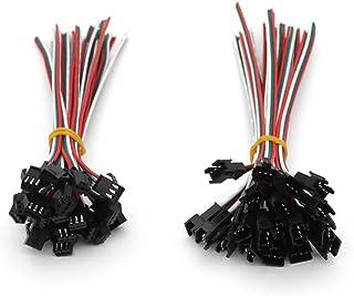 VIPMOON 20Pairs JST SM 3PIN Enchufe Macho a Hembra EL Cable Adaptador de Conector de Cable