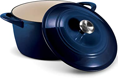 Tramontina Enameled Cast Iron 7-Qt. Covered Round Dutch Oven - Cobalt
