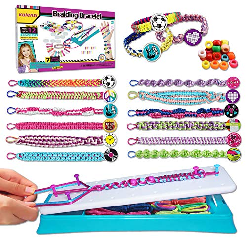 KUIENSI Friendship Bracelet Making Kit for Girls, DIY Craft Bracelet with Elastic Design and Convenient Wearable, Gifts for 6 Years Old Girls and up