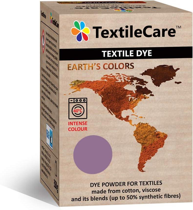 TextileCare Tinte de tela para lavadora para ropa y textiles, 350 g de tinte para ropa de 600 g, 14 colores (ciruela)