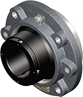 Sealmaster USFCE5000A-207 Unitized Spherical Split Cast Iron Roller Bearing, Flange Cartridge, Adapter Mount with Type E Dimensions, 1/2