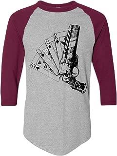 Destiny Video The Aces Game of Spades Funny Raglan Baseball T-Shirt
