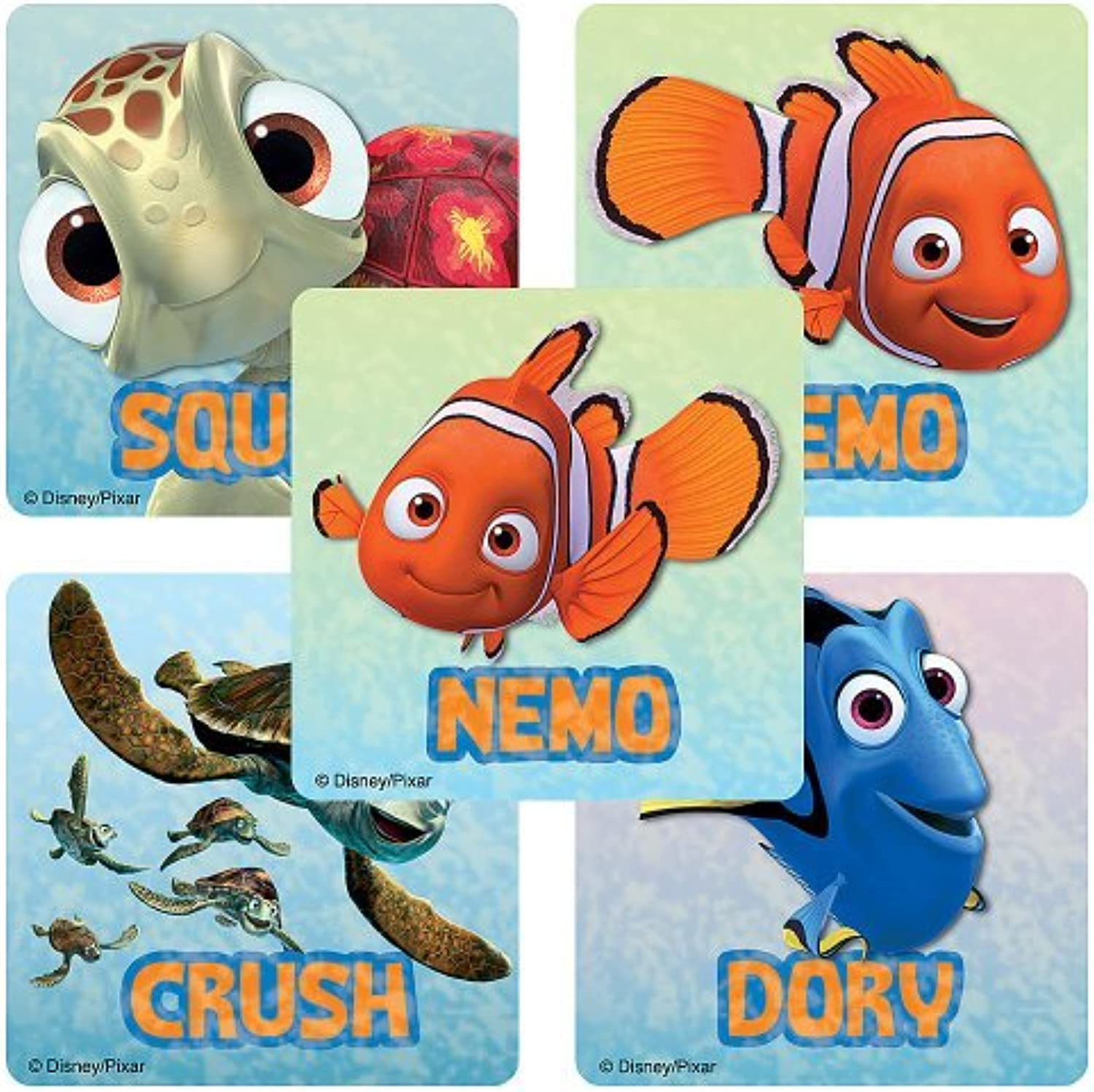 Disney Finding Nemo Stickers  Party Favors  75 per Pack by SmileMakers