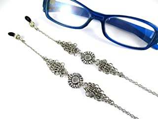 Sunflower Eyeglass Chain Women's Handmade Unique Chain Maille Jewelry Charms Stainless Steel Chain Mail For Women