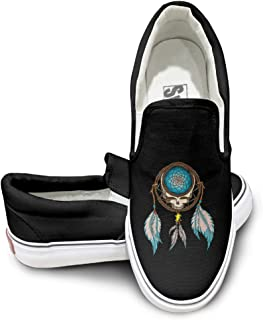 PTCY Beautiful Grateful Dead Casual Unisex Flat Canvas Shoes Sneaker Black