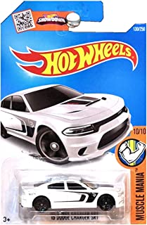 Hot Wheels 2016 Muscle Mania '15 Dodge Charger SRT Hellcat White