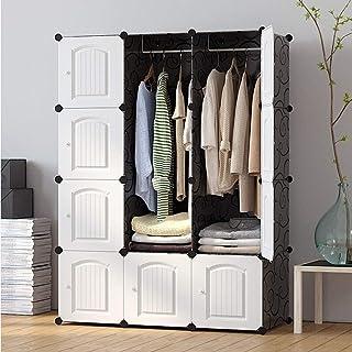 ZGQA-GQA Simple Vêtements Armoire Placard Adulte Armoire Simple Blanc Vêtements Designed Rangement Bricolage Meuble étagèr...