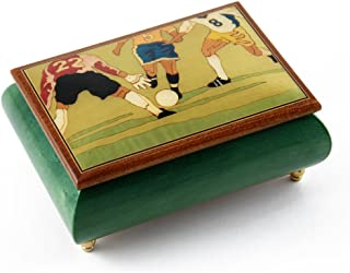 Sports Theme Wood Inlay: Soccer - Over 400 Song Choices - Collectible 18 Note Musical Jewelry Box Eine Klien Nachtmusik, Allegro