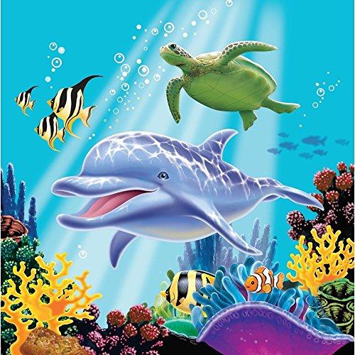 16 Servietten * OCEAN PARTY * für Kindergeburtstage oder Motto-Partys // Geburtstag Party Napkins Ozean Meer Clownfisch Fisch Korallen