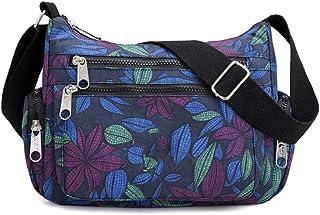 Kukoo Multi Pocket Crossbody Bag Spacious Shoulder Purse Waterproof Travel Handbags for Women