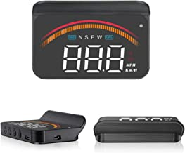 M11 Car HUD Display OBD2 GPS Dual System Mode Speedometer Tachometer Head Up Display RPM MPH Over Speed Alarm Voltmeter Water Temperature Warning Projector Auto Truck SUV RV 3.5