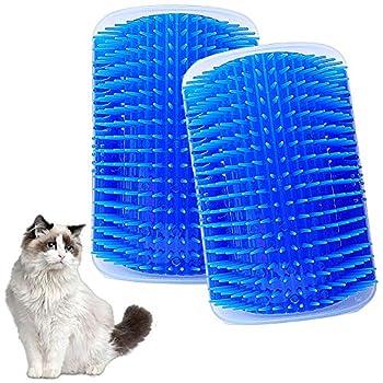 LLMZ 2 Pcs Brosse Angle Chats Toilettage du chat Brosse chat, Cheveux Peigne Cat Toy Toilettage et Massage Cat
