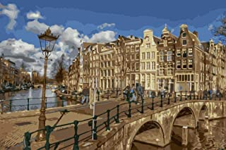 Diy Digital Painting European Architecture Adult Oil Painting Gift Beginner Painting Set Home Decoration
