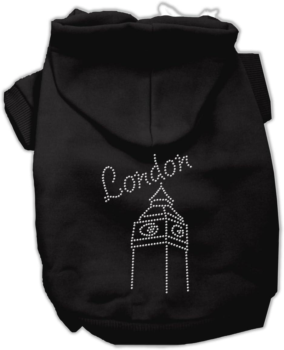 Cheap sale Online limited product London Rhinestone Hoodies 12 Black M