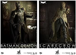 Hot Toys Batman Begins 10th Anniversary Exclusive Movie Masterpiece Deluxe Collectors 1/6 Scale Action Figure 2Pack Batman Demon Scarecrow