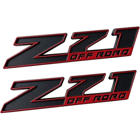 Large Size 2pc Z71 OFF ROAD Emblem Red-Black 3D Badge For GMC Chevy Silverado Sierra Suburban Colorado 2014-2018