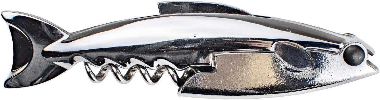 BARY3 STAINLESS STEEL WAITERS Opening large release sale Award-winning store SHARK CORKSCREW