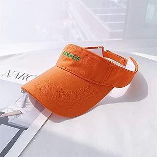 ZiWen Lu Ins Harajuku College Wind Tide Motion Empty top hat Children Summer Sun Cap Korean Wild Street (Color : Orange, Size : One Size)