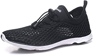 Kenswalk Men's Aqua Water Shoes Lightweight Quick Drying Boating Barefoot Sneakers for Beach Pool Swim