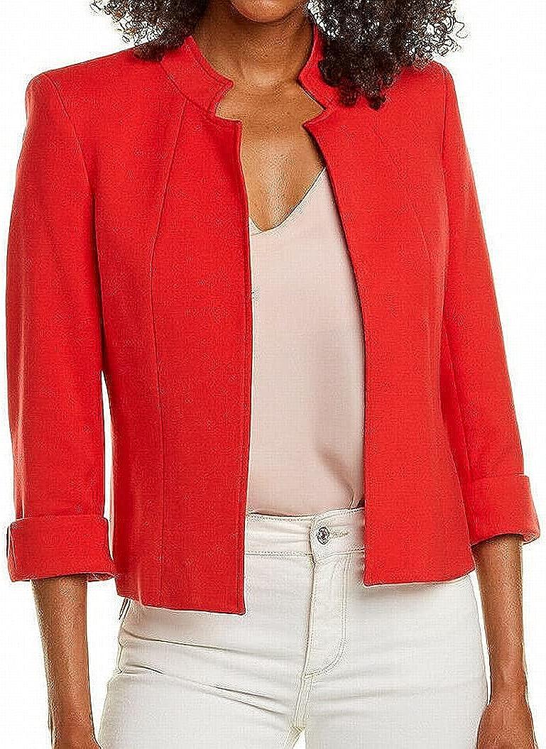 Tahari ASL Women's Plus Size Stand Collar Jacket