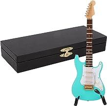 Miniature Guitar, Musical Instrument Gift Desktop Simulation Guitar Model for Office for Home(14 cm Green Electric Guitar)