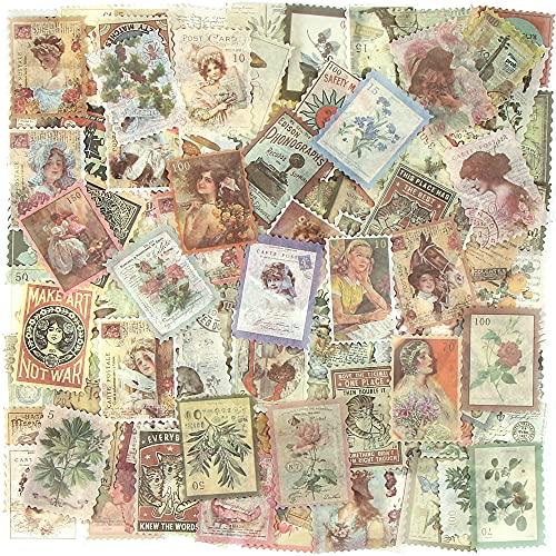 240 Hojas Pegatinas de Sellos, Pegatinas Scrapbooking, Plantas Flores Tema para Álbum DIY Cuaderno Calendario...