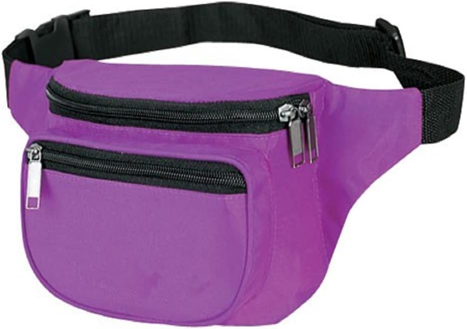 Yens® Fantasybag Very popular Challenge the lowest price 3-Zipper FN-03 Pack-Purple Fanny