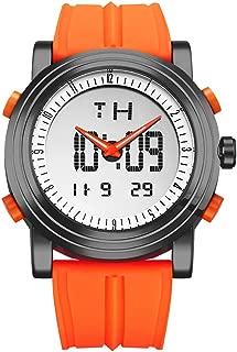 SINOBI Sport Military Rubber Digital and Quartz Men Watches with Alarm, Luminous Dual Time Auto Date Watches