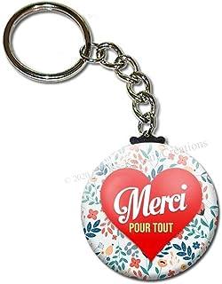 Merci pour tout Porte Clés Chaînette 3,8 centimètres Idée Cadeau Accessoire Personnel Médical Soignant Hôpital Remerciement